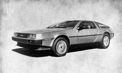 Delorean In Black And White Art Print by Steve McKinzie