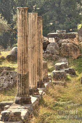 Photograph - Delphi Column Row by Deborah Smolinske