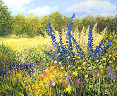 Painting - Delphinium by Kiril Stanchev