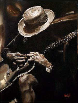 Painting - Delta Blues by Em Kotoul
