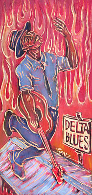 Painting - Delta Blues by Robert Ponzio