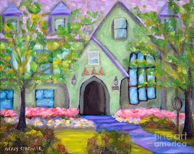 University Of Arkansas Painting - Delta House by Stacy Spangler