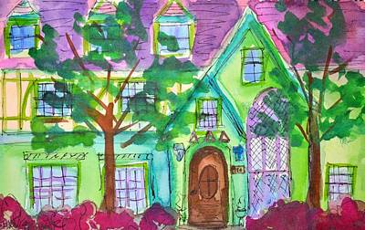 University Of Arkansas Painting - Delta Iota by Stacy Spangler