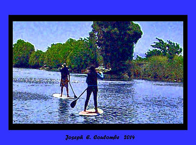 Photograph - Delta Paddle Board Buddies by Joseph Coulombe