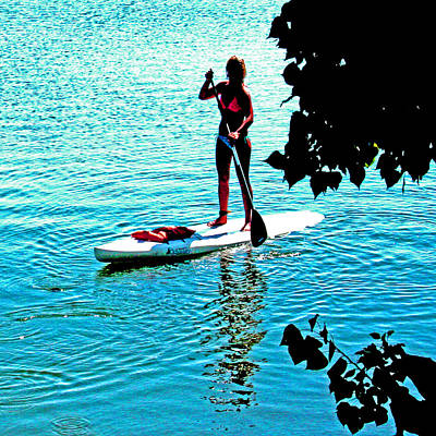 Photograph - Delta Paddle Boarding by Joseph Coulombe