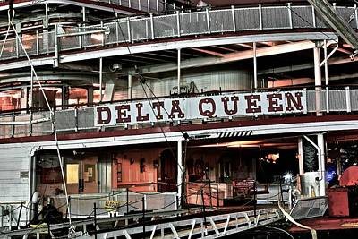 Photograph - Delta Queen Up Close by Frozen in Time Fine Art Photography