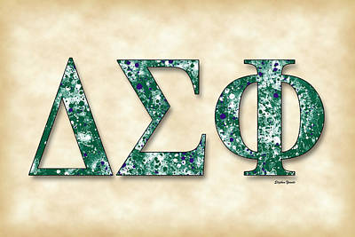 Delta Sigma Phi - Parchment Art Print by Stephen Younts