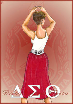 Delta Sigma Theta Art Print by BFly Designs