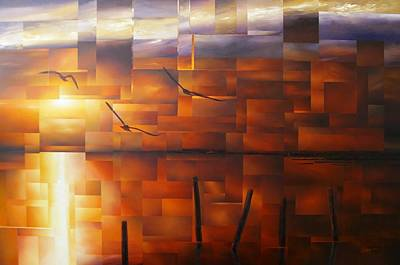 Painting - Delta Sunset by Laurend Doumba
