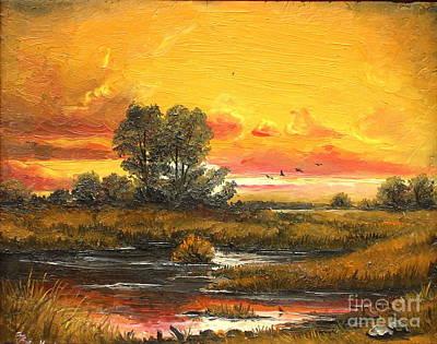 Delta Sunset Art Print by Sorin Apostolescu