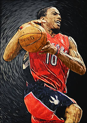 Illustration Digital Art - Demar Derozan by Taylan Apukovska