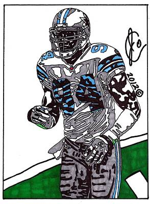 Dallas Cowboys Drawing - Demarcus Ware 1 by Jeremiah Colley