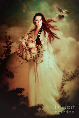 Mother Earth Digital Art - Demeter by Shanina Conway