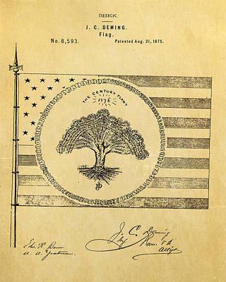 1875 Photograph - Deming Century Flag Patent Art 1875 by Ian Monk