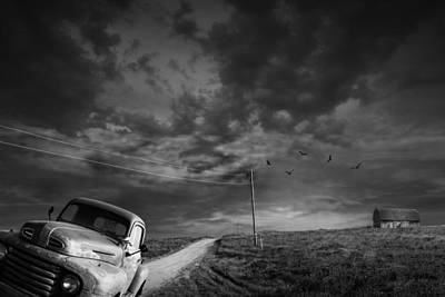 Gravel Road Photograph - Demise Of The Small Farm by Randall Nyhof