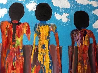 Demoiselles De Marrakesh Art Print by Omar Hafidi
