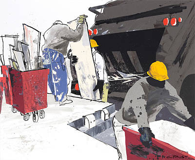 Mixed Media - Demolition Crew by Clifford Faust
