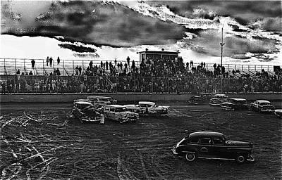 Demolition Derby Rain Storm Clouds Tucson Arizona 1968 Art Print by David Lee Guss