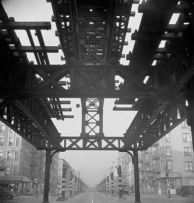 Demolition Of Second Avenue Elevated Art Print by Science Source