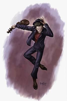 Fiddler Digital Art - Demon by Bryan Syme