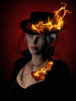 Netting Digital Art - Demon Fires by Suzanne Amberson