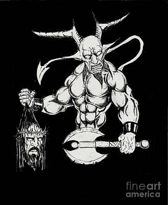 Demon Hero Art Print by Alaric Barca
