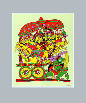 Demon King Ravana Art Print by Santi Arts
