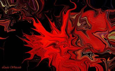 Digital Art - Demon Ocular M Scintillation by Linda Whiteside