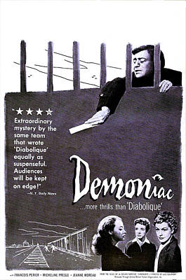 1957 Movies Photograph - Demoniac, Aka Le Louves, Us Poster by Everett
