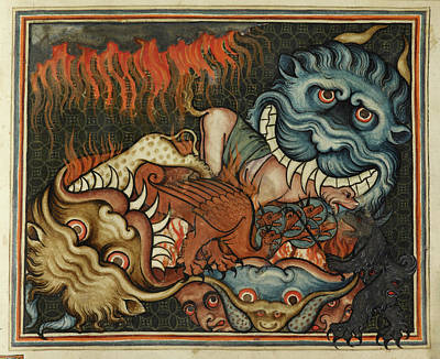 Mythological Photograph - Demonic Beasts by British Library
