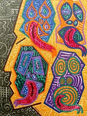 Psychology Painting - Demons by Patrick J Murphy