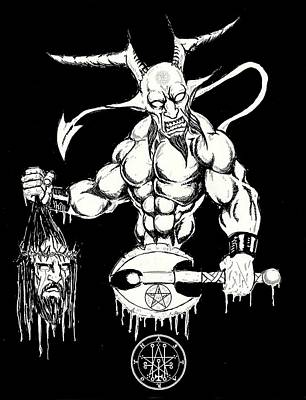 Demons Savior Bloody Redux Art Print by Alaric Barca