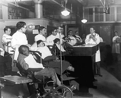 Dentist Photograph - Demonstrating Orthodontia by Underwood Archives