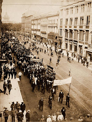 Demonstration On The Nevski Prospect, Petrograd Art Print