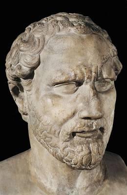 Demosthenes. Ca.  230bc. Roman Copy Art Print