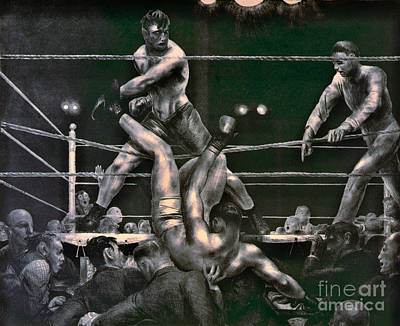 Dempsey And Firpo 1923 Art Print by Padre Art