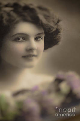 Photograph - Demure Edwardian Beauty by Jan Bickerton