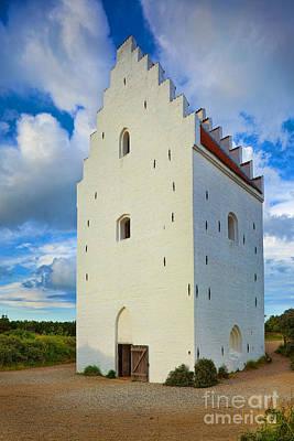 Entrance Door Photograph - Den Tilsandede Kirke Steeple by Inge Johnsson