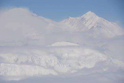 Photograph - Denali And Clouds by Michael Gooch
