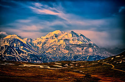 Photograph - Denali At Sunset by John Haldane