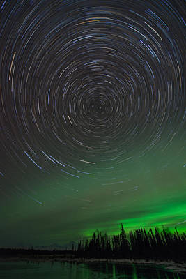 Photograph - Denali Aurora Whirl by Roger Clifford