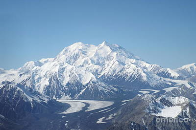 Denali From The Air Art Print