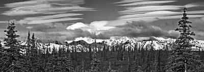 Denali In Clouds Art Print
