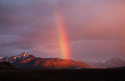 Photograph - Denali Mountains Rainbow by Jean Clark