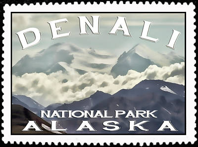 Photograph - Denali Postage Stamp  by Heather Applegate