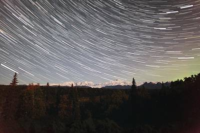 Photograph - Denali Star Trails by Ronald Lafleur