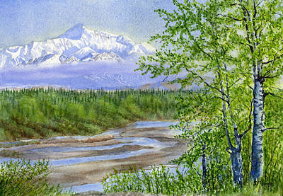 National Parks Painting - Denali Viewpoint by Sharon Freeman