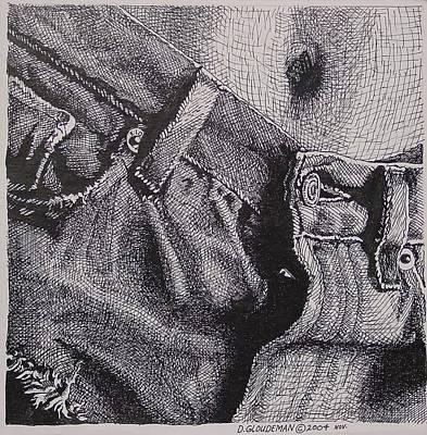 Denim Drawing - Denim by Denis Gloudeman
