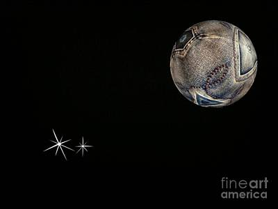 Photograph - Denim Moon 2 by Joan-Violet Stretch