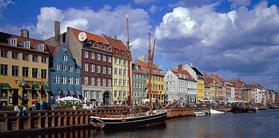 Daytime Photograph - Denmark, Copenhagen, Nyhavn by Panoramic Images